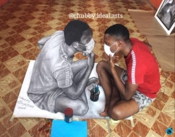 Nigerian artist goes viral after making life-like drawing with his pencil